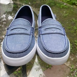 NWT Cole Haan blue chambray Nantucket loafers